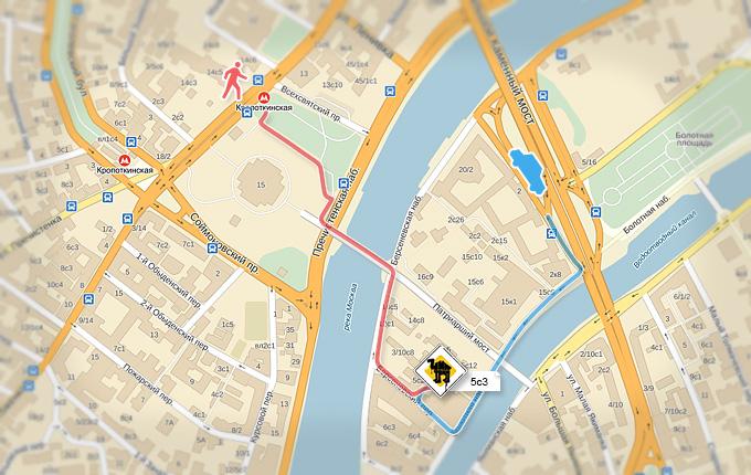 Map & Схема проезда на