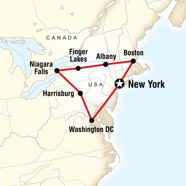 Йорк расстояние бостон нью