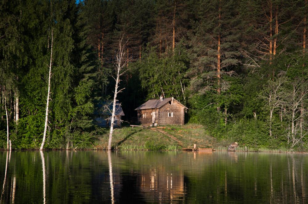 рыбалка и баня у озера в карелии