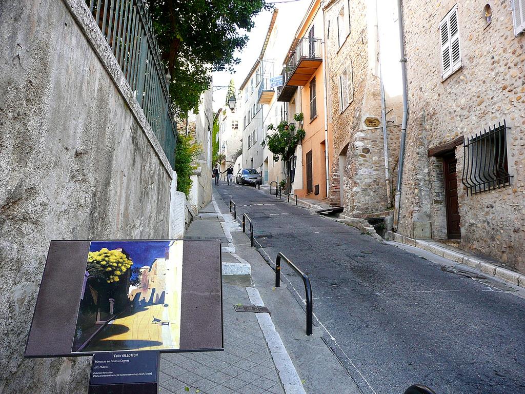 Обои Красная Дорога возле Ментона, Пейзаж, Клод Моне, картина. Разное foto 8