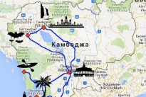 map for cambodia tour